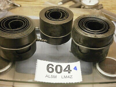 3 Clock Mainsprings Fusee 34-39 mm secondhand parts wall skeleton bracket 604A