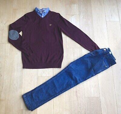 NEXT *13y BOYS 100% NEXT JEANS & JUMPER OUTFIT AGE 13 YEARS