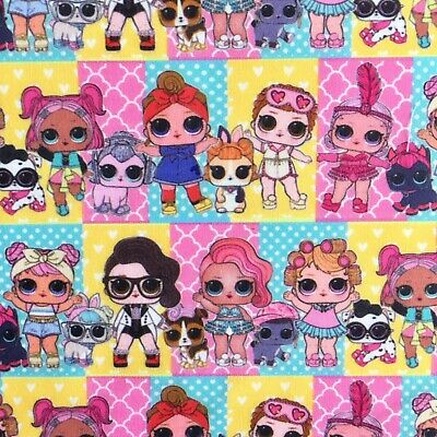 Offcut Lol Surprise Doll Pets Cotton Fabric Girls Character