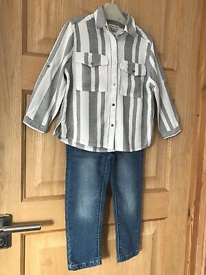 RIVER ISLAND NEXT 3y GIRLS BLOUSE TOP & JEANS OUTFIT AGE 3 YEARS