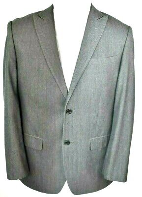 Joe Joseph Abboud Mens Suit Coat Jacket 38R Gray Polyester Blend Herringbone