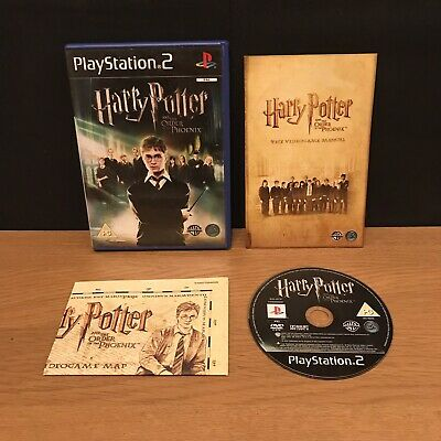 Harry Potter Order Of The Phoenix (Sony PlayStation 2, 2007) With Map