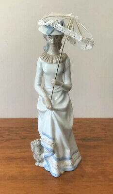 SANGO Porcelain Lady With Dog Figurine Made In Spain