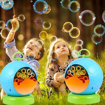 Automatic Amusing Bubble Machine Blower Maker Party Outdoor Toy For Kids Rp