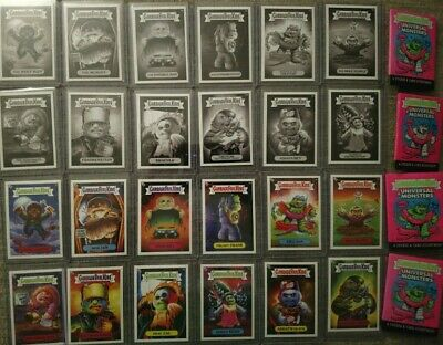 Universal Monsters Garbage Pail Kids 2019 Super 7 SDCC Wave 1 set 24 w/ wrappers
