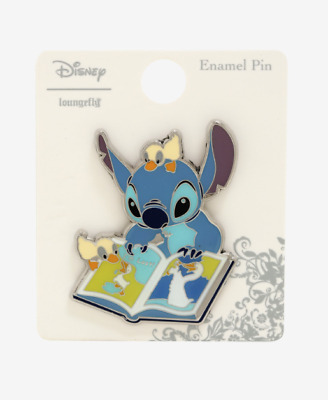Disney Stitch Book Duck Enamel Pin Box Lunch Loungefly Limited Lilo & Ducklings