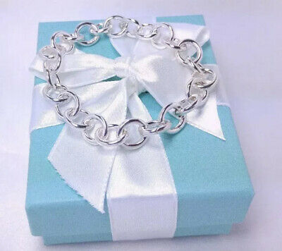 Tiffany & Co. Round Link Clasping End Bracelet 7.5 Medium Sterling Silver 925