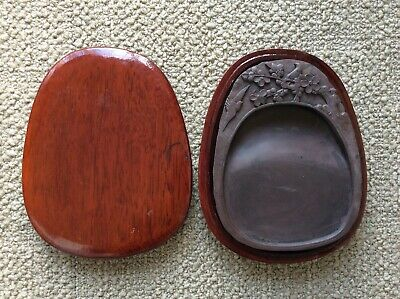Chinese Old DUAN Ink Stone 端渓硯 / W 15.9[cm] Plate Pot Qing Yuan Song
