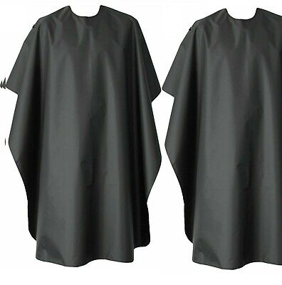 2X Large Professional Hair Cutting Hairdressing Salon Gown Barbers Cape Black
