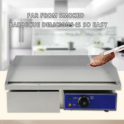 Electric Griddle Kitchen Hotplate Countertop BBQ Grill Flat Commercial 3000W AU