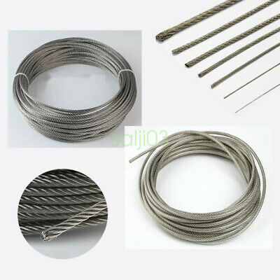 0.8mm 1mm 2mm 3mm 4mm Stainless Steel Cable Rigging Wire Rope Flexible 1M-100M