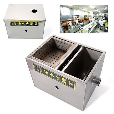 Kitchen Upgraded Grease Trap Interceptor Stainless Steel Wastewater Mineral Oil