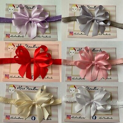 Baby Girls Satin Bow 4 Inches 3 Layers Headband Hairband Hair Accessories +Lot