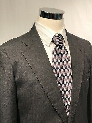 DEANSGATE Suit Grey Mens 2 Piece Single Breasted Jacket Size 42