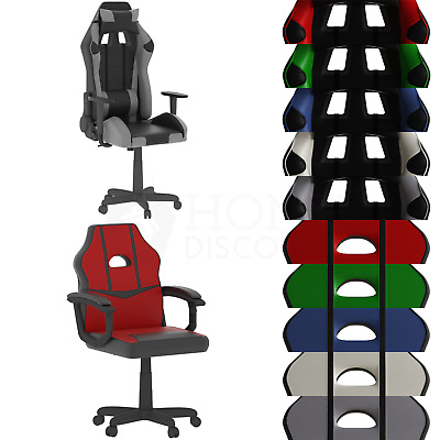 Racing Gaming Office Chair Executive Rotating Home Leather Recliner Computer
