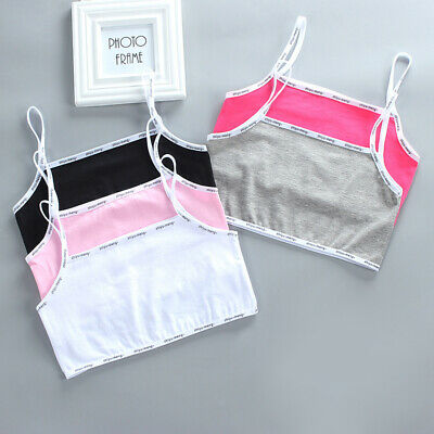 Girls Simple Bras No rims Solid Spandex Sports bra Cotton One Size Summer Fall