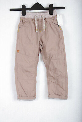 P215/02 Mothercare Adjustable Waist Beige Cotton Chinos Trousers, age 3-4,104cm