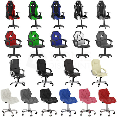 Racing Gaming Executive Chair Office Home Leather Rotating Computer Reclining