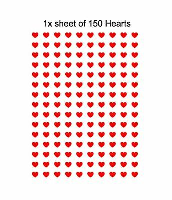 150 Heart Vinyl Decal Stickers Boxes Frames Vases Books Crafts Wine Gin Glasses