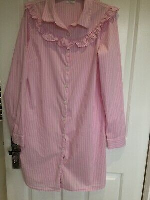 Girls Cotton Pink Stripe Long Shirt From Next Age 13Ys Worn Once