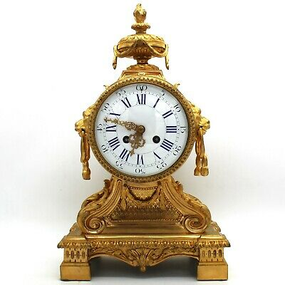 Antique Napoleon III Pendulum mantel Clock ormolu in Bronze - 19th century