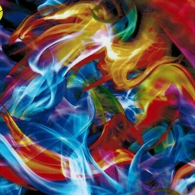 Hydro Dipping Water Transfer Hydrographic Film Rainbow Flames 1Sq