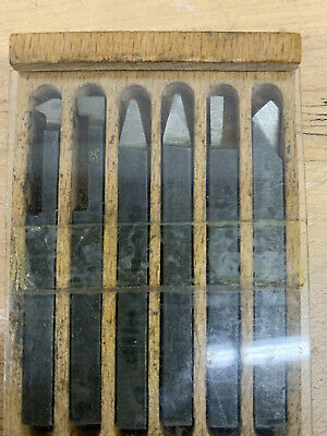 Unimat factory lathe tool bits in original box, They look new