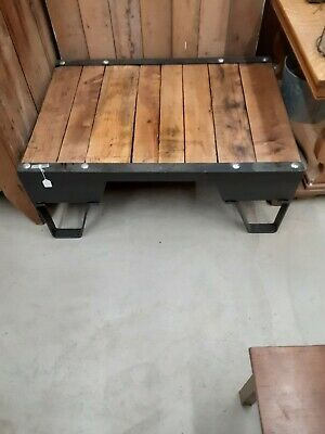 Antique Industrial Cart Turned Into A Coffee Table. 42 L by 30 deep by 17 1/2h.