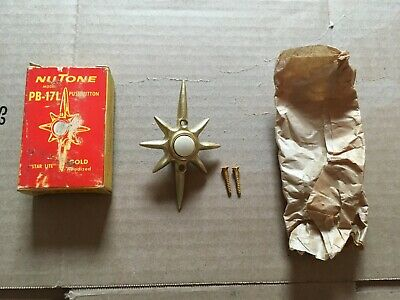 Nutone ''Star Lite'' Star Burst Push Button Lighted Door Bell Nos Vintage