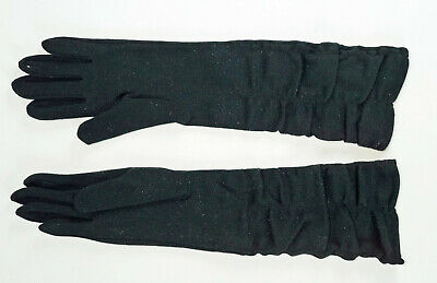 Vintage Max Mayer & Co. 100% Nylon One Size Fits All Elbow Length Black Ladies