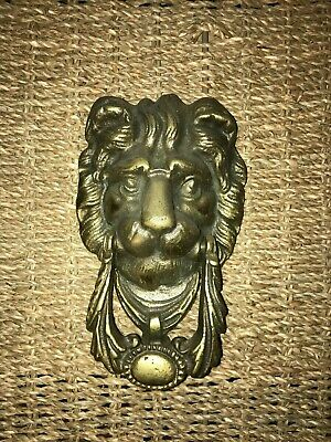 Lion Brass Doorknocker