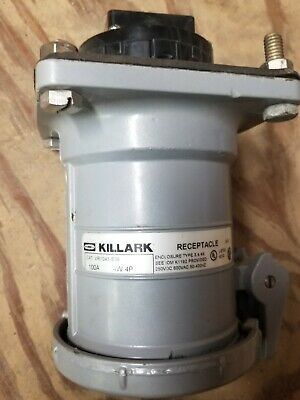 HUBBELL KILLARK Receptacle 100 amp 4W 4P  CAT# VR1041 -S39  USED