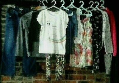 Girls Clothes Bundle Age 9-10 Years, jeans, dresses tops, Next ,blue zoo & more