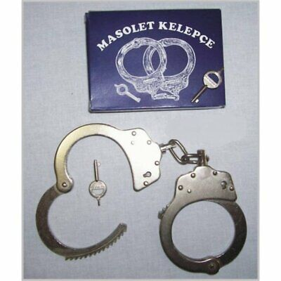 Police Handcuffs DOUBLE LOCK Professional STEEL Hand Cuffs Silver Color / 2 Keys
