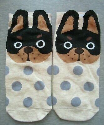 NEW Ladies Girls (1 Pair) Rottweiler Puppy Trainer Socks FREE P&P
