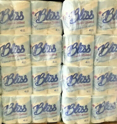 40 Rolls of Soft Strong 2 Ply Embossed Quilted Toilet Tissue Paper Roll BLISS