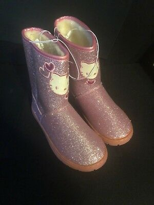 Hello Kitty Pink Glitter Boots Toddler Girls Size 13 Buy Today