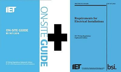 IET BS 7671 2018 On-Site Guide + Electrical Installations [PDF] INSTANT DELIVERY