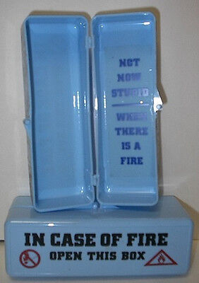 """2  """"In Case Of Fire Open This Box"""" New/Old"""