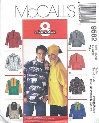 Cardigan Fleece pattern sz XS S M vest jacket 6-16 S9409