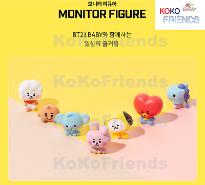 BTS BT21 Official Baby All 7 Characters Monitor Mini Figure KPOP Goods Authentic