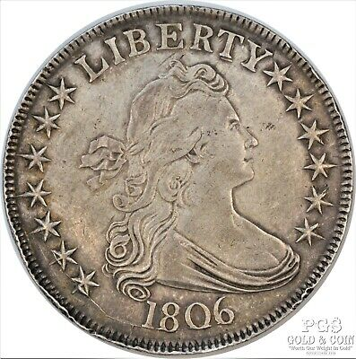 1806 Draped Bust 50c SILVER Half Dollar US Coin Rare Pointed 6 Stem O-116 12514