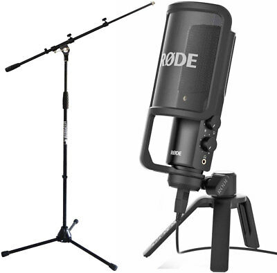 Rode Nt-Usb Versatile Condensor USB Microphone + Keep Drum Microphone Tripod