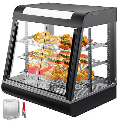 Commercial Food Warmer pastry warmer sliding doors pizza warmer display case