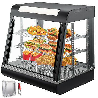 Commercial Food Warmer pizza display case patty warmer sliding doors BEST PRICE