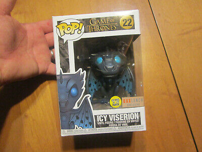 Funko Pop GAME OF THRONES ICY VISERION 22 GITD GLOWS IN THE DARK BOX LUNCH READ