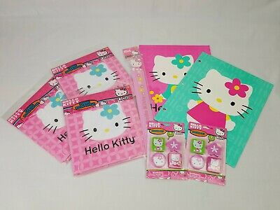 Hello kitty school supplies folders eraser sets book cover ruler collection
