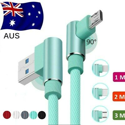 90 Elbow Fast Charging USB Type C Charger Cable For Samsung S9  S8 Plus Note 8 9