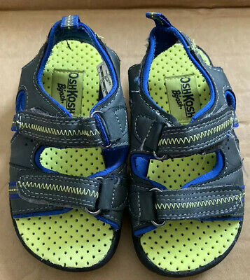 Osh Kosh Bgosh Boys Sandals Blue Green Toddler Sz 7 Outdoor Shoes