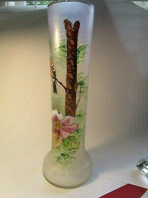 Delicate Lightweight Very Tall Hand Painted Vase